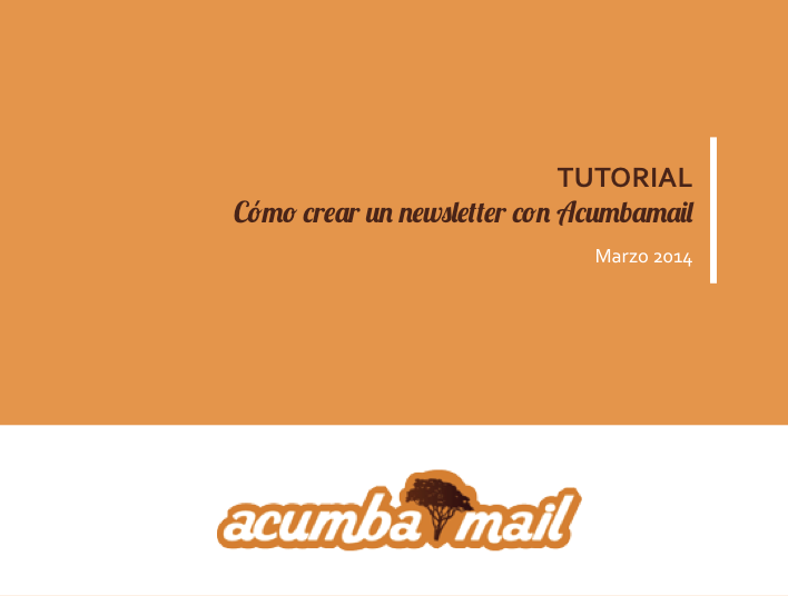newsletter acumbamail