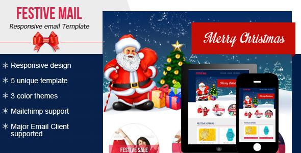 plantilla de email navideño Festive4 Email Newsletter