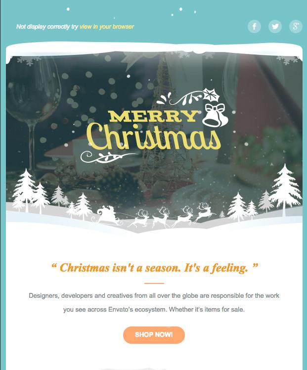 plantilla de email navideño - X'mas 2 - Responsive Email Template
