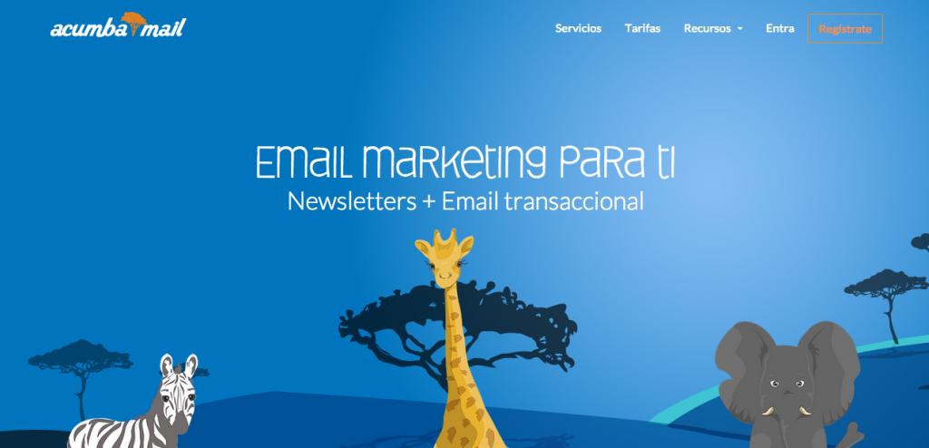 Nuevo home web Acumbamail