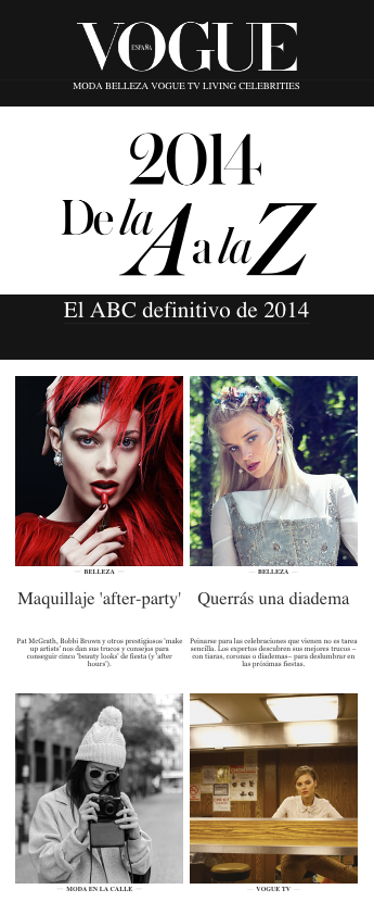 newsletter anual moda vogue