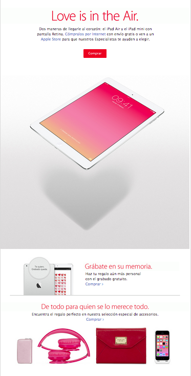 newsletter apple san valentin