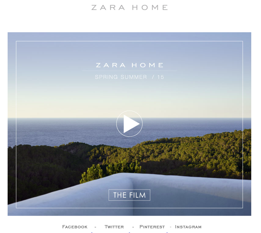 newsletter zara home