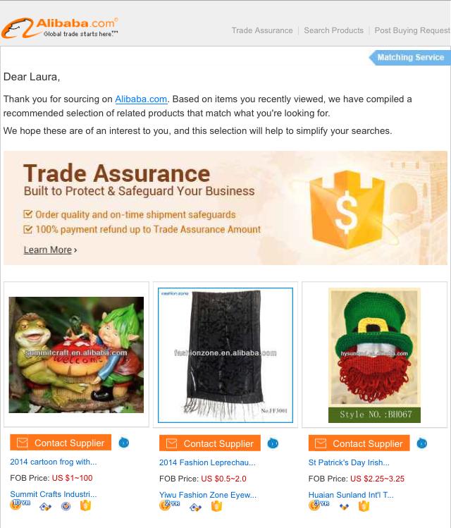 ejemplo de email ecommerce