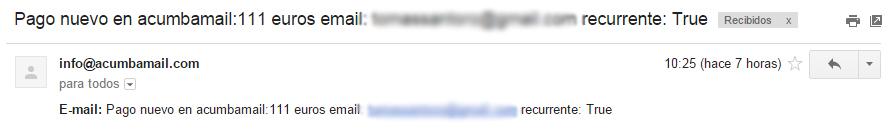 Notificaciones en Acumbamail