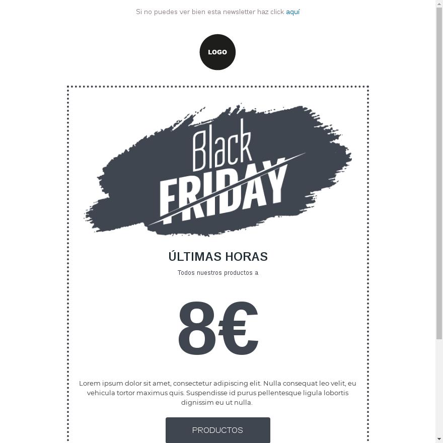 plantilla email black friday