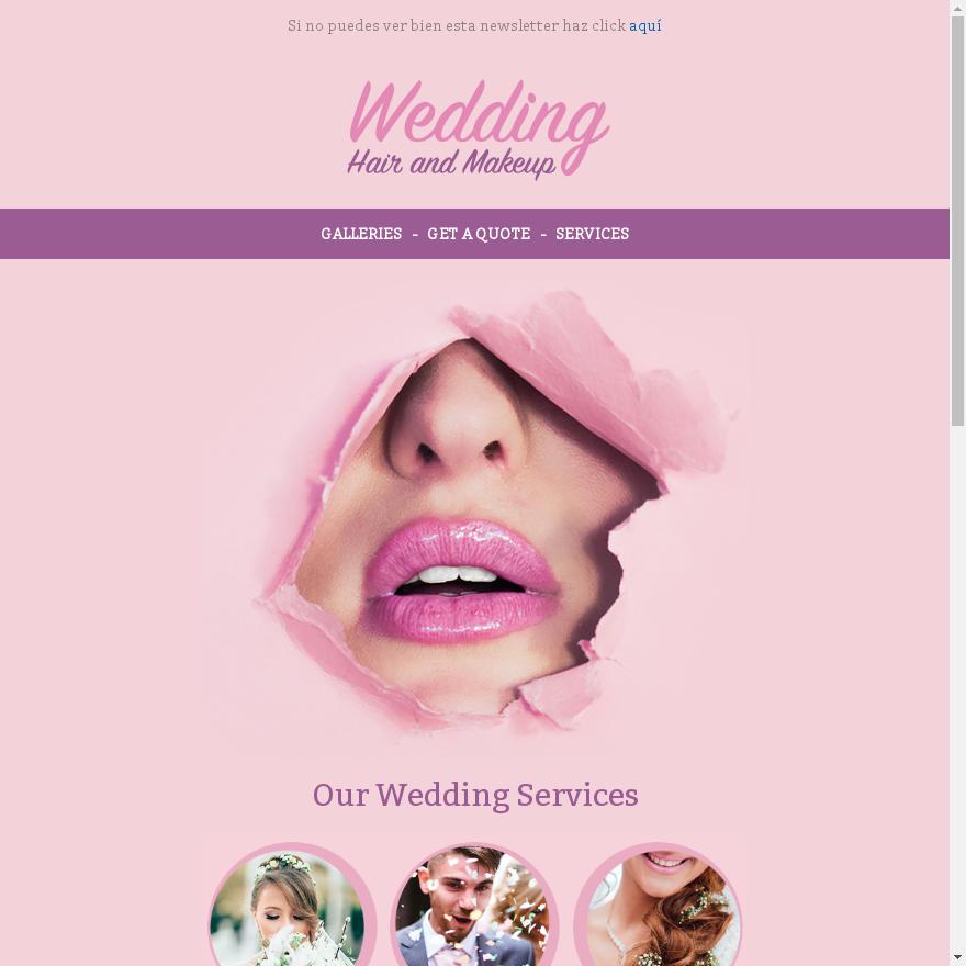Plantilla newsletter boda