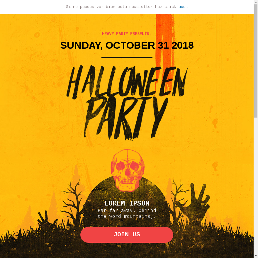 Plantilla newsletter halloween