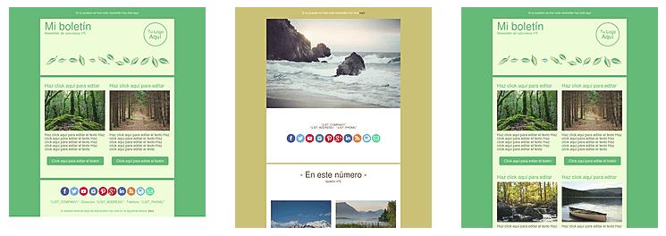 plantillas gratuitas para tu newsletter de naturaleza