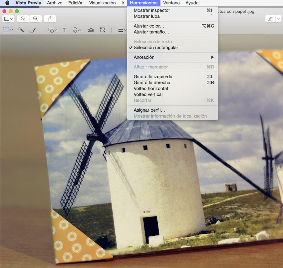 optimizar imágenes con el vista previa de mac