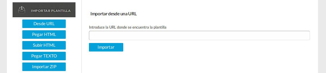 Importar plantilla desde URL