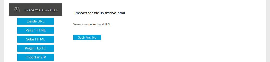 Subir un archivo HTML