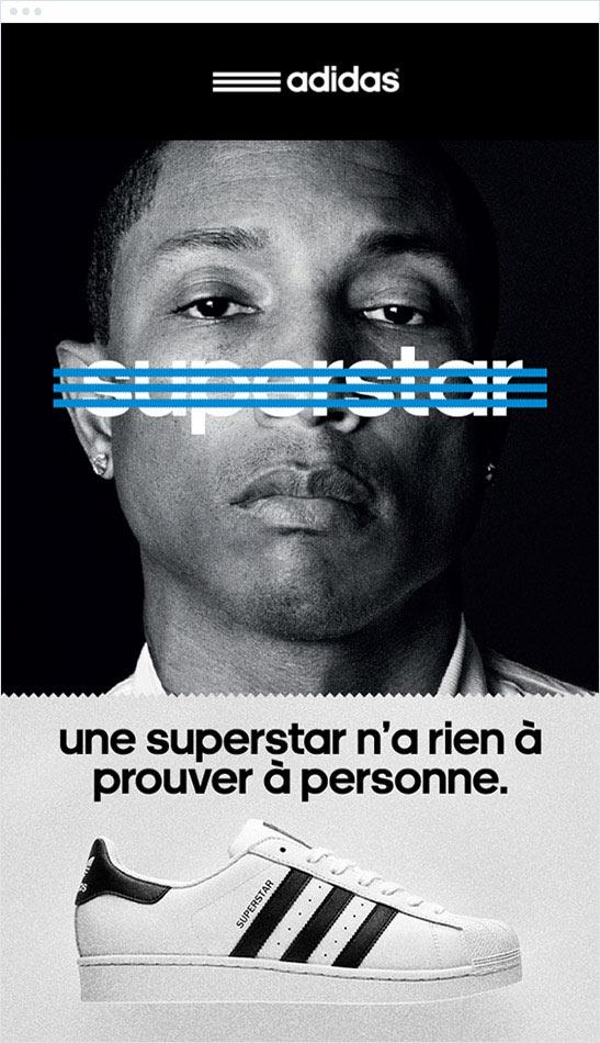 Campaña 2015 de Adidas Superstar con Pharrell