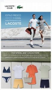 Lacoste mostró prendas en sus campañas 2015