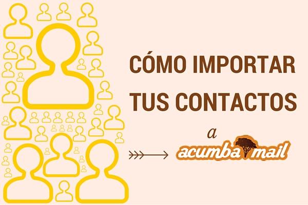 Cómo importar tus contactos
