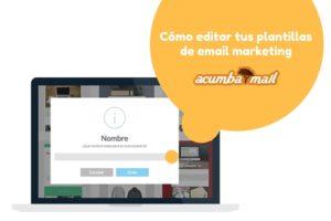 Cómo editar las plantillas de Acumbamail