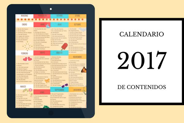 Calendario de contenidos 2017