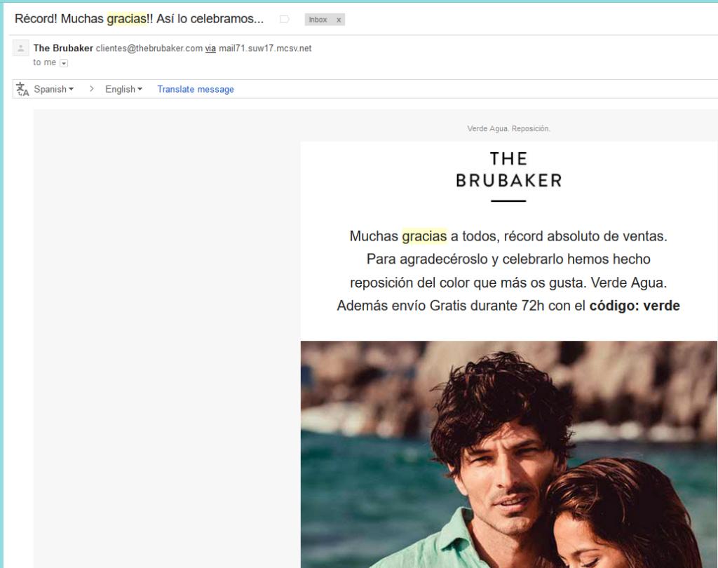 campaña agradecimiento Brubaker