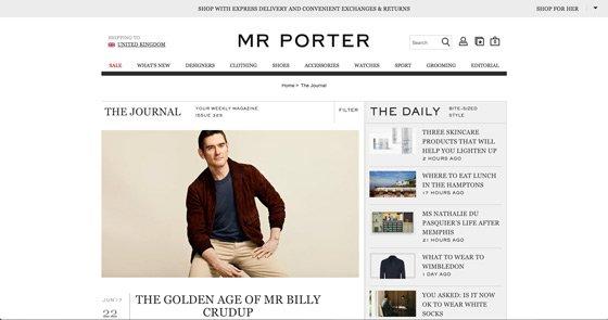 Mr Porter: vendiendo con el contenido