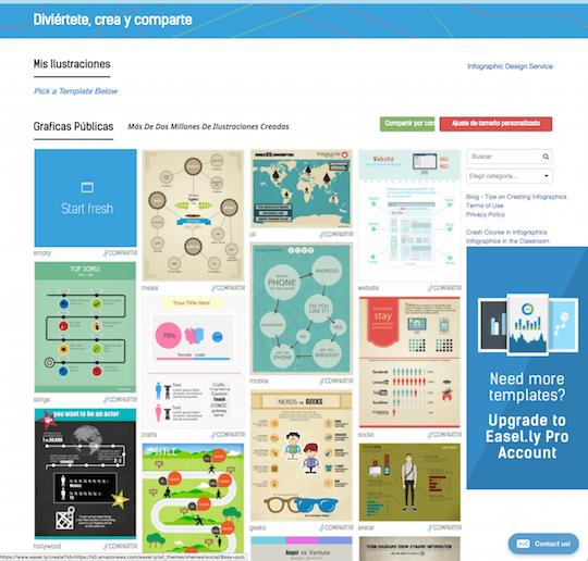 montar tu infografía usando ease.ly