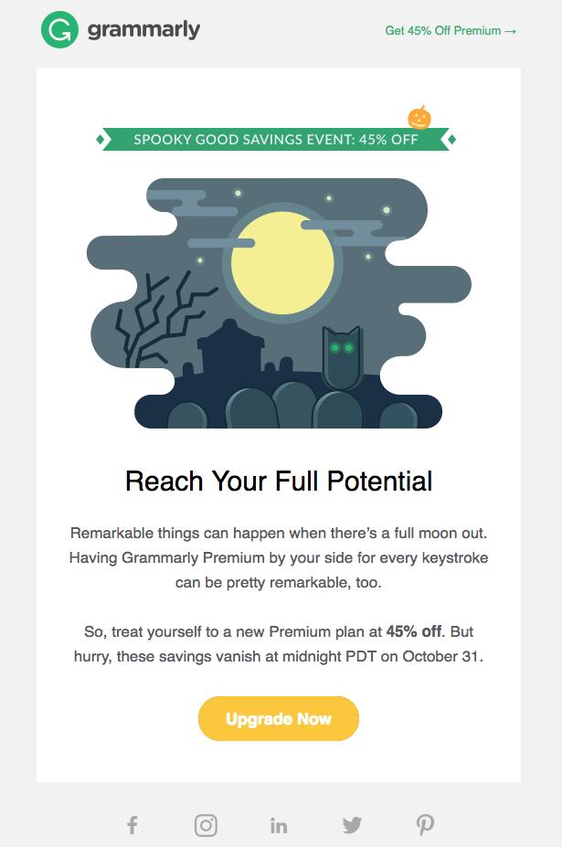 Grammarly, halloween