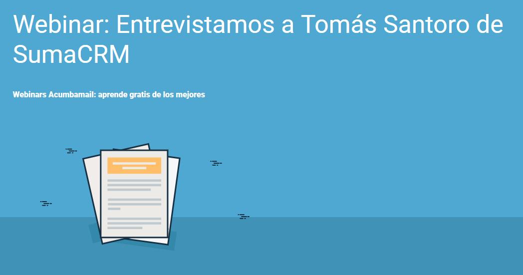 Webinar-entrevista con Tomás Santoro