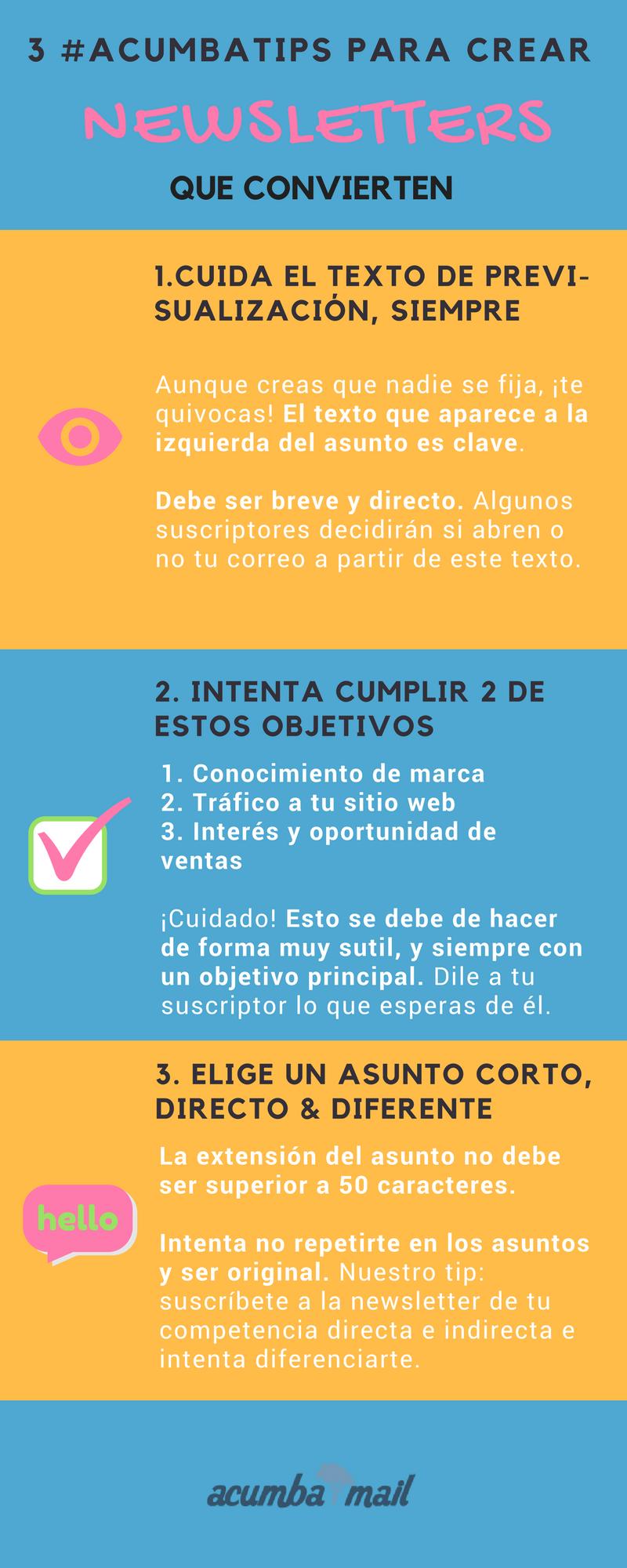 Infografía, cómo crear newsletters que convierten (5)