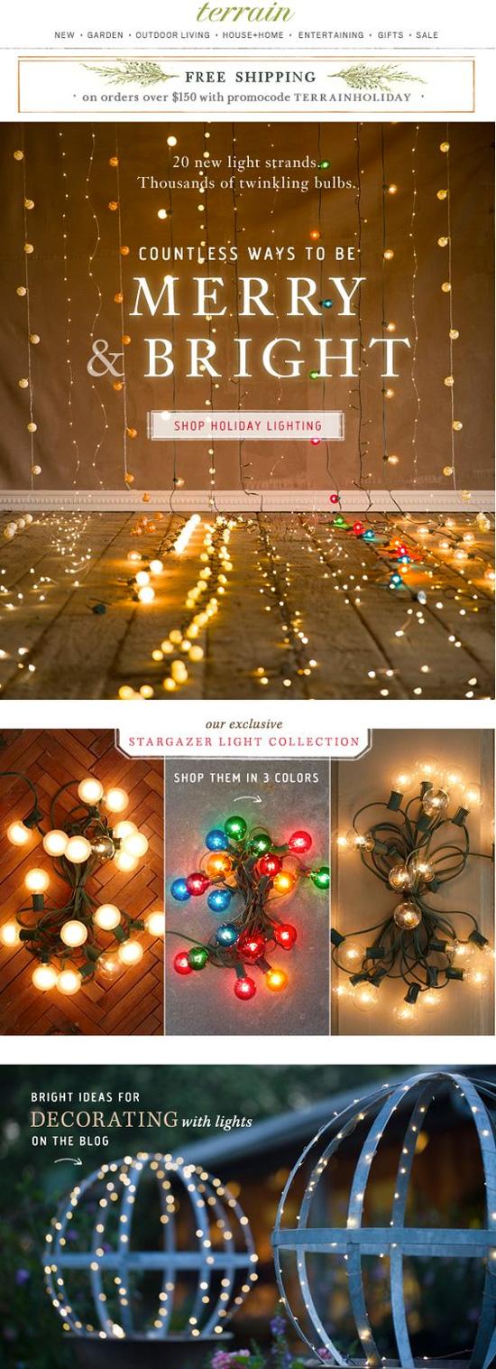 Diseño email marketing en navidad: usar el lettering como protagonista
