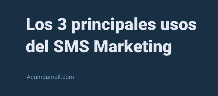 usos sms marketing