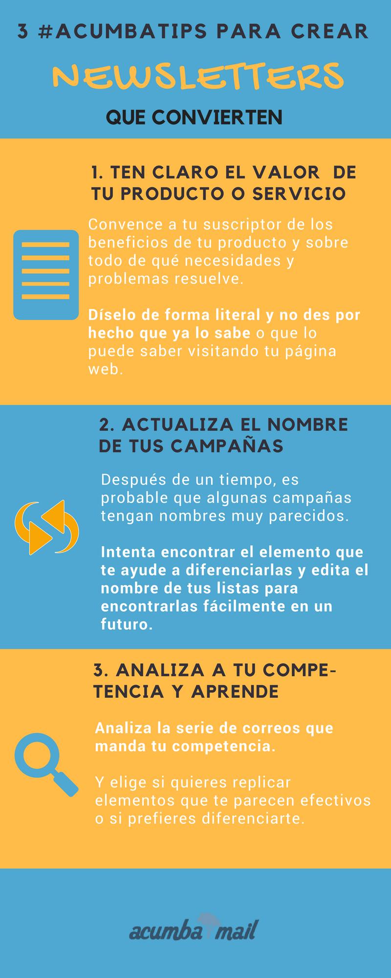 Portada infografía: cómo crear newsletters efectivas