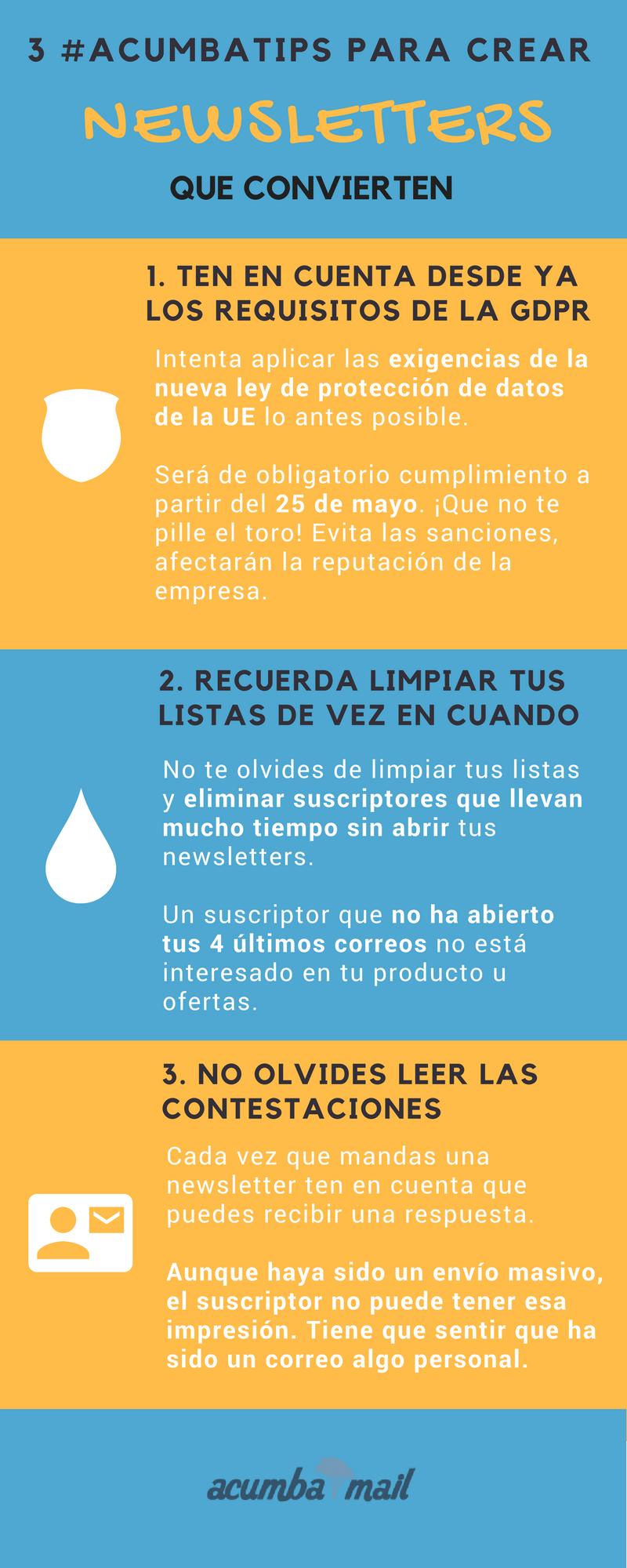 Infografía: Cómo mandar newsletters que convierten 13