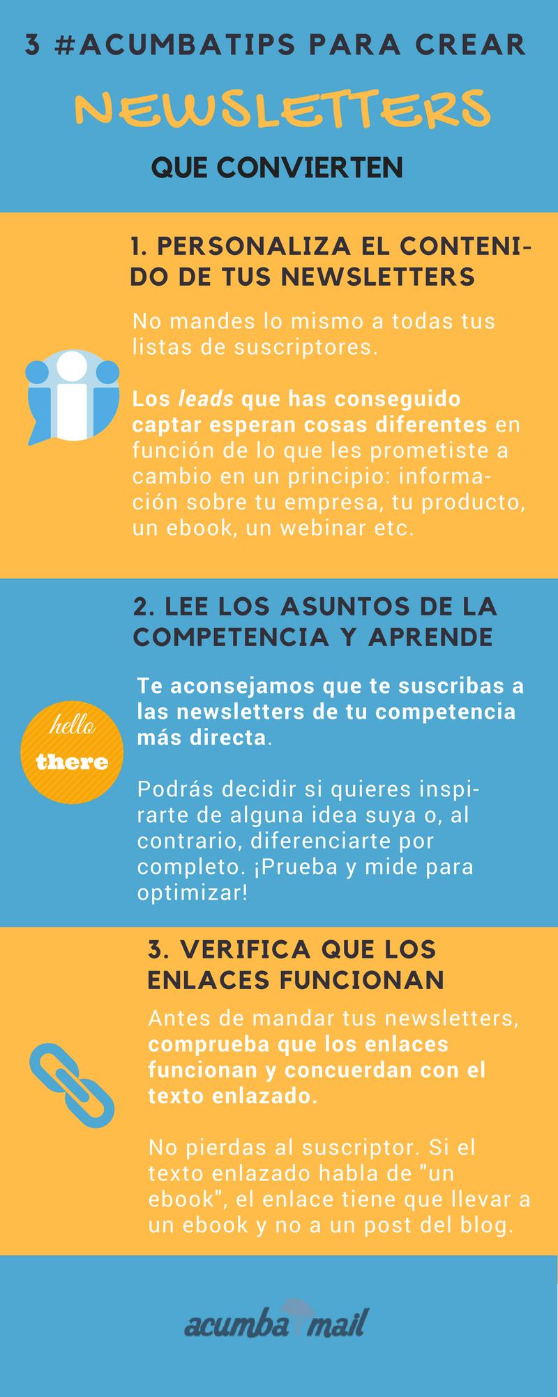 Infografía 14: cómo crear newsletters que convierten