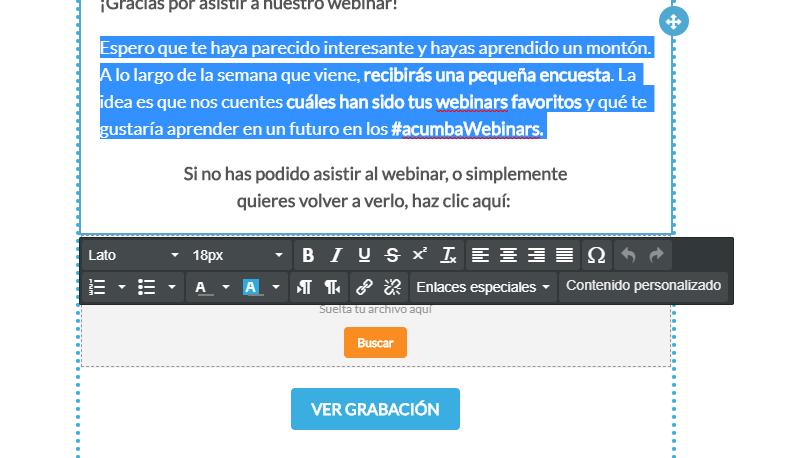 Editar texto con el nuevo editor