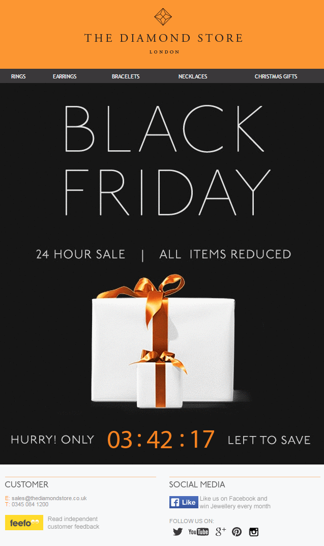 black friday email countdown