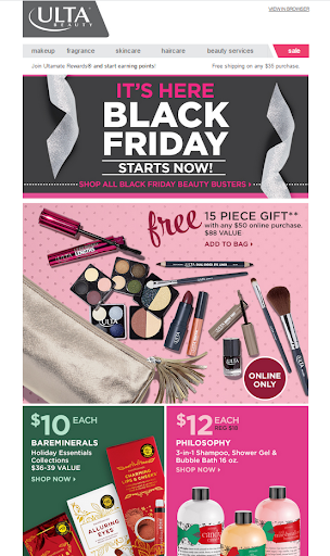 black friday email freebie