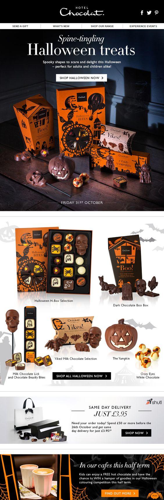plantilla email halloween inspiracion hotel chocolat
