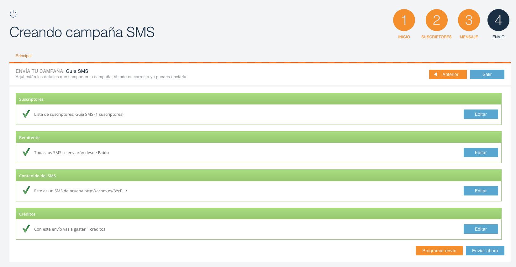 envio masivo sms campaña 5