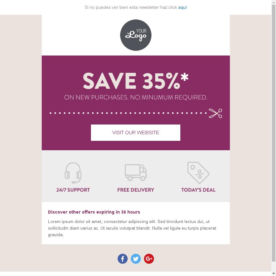plantillas email ecommerce
