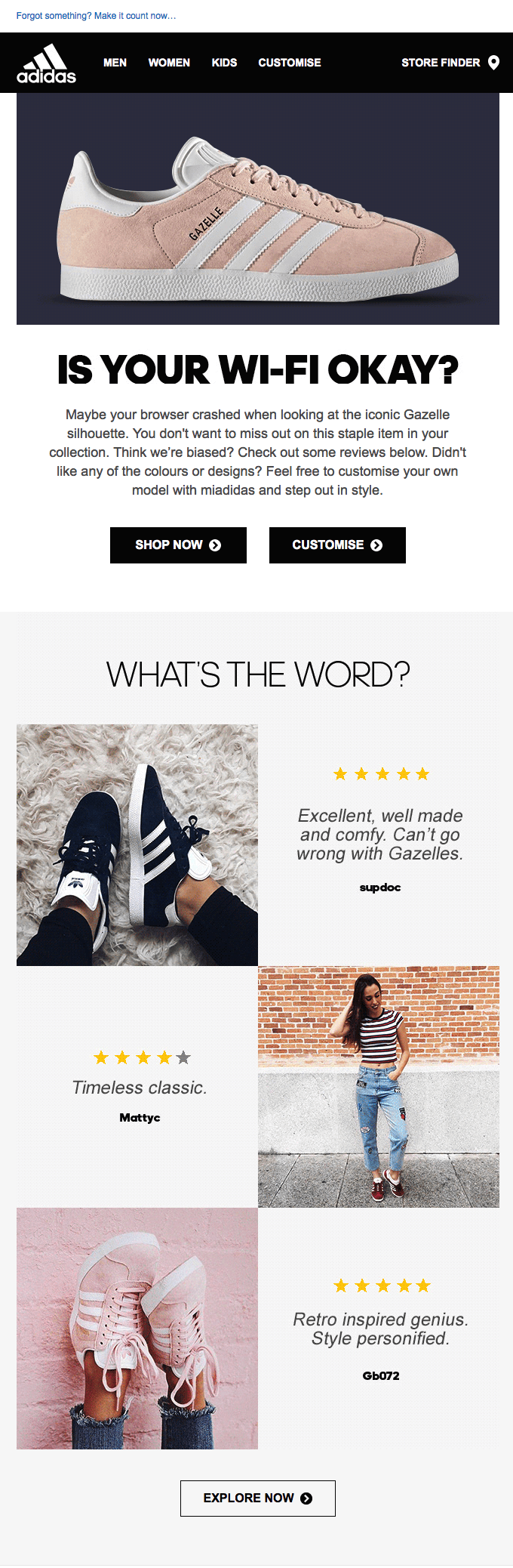 Email ecommerce inspiracion