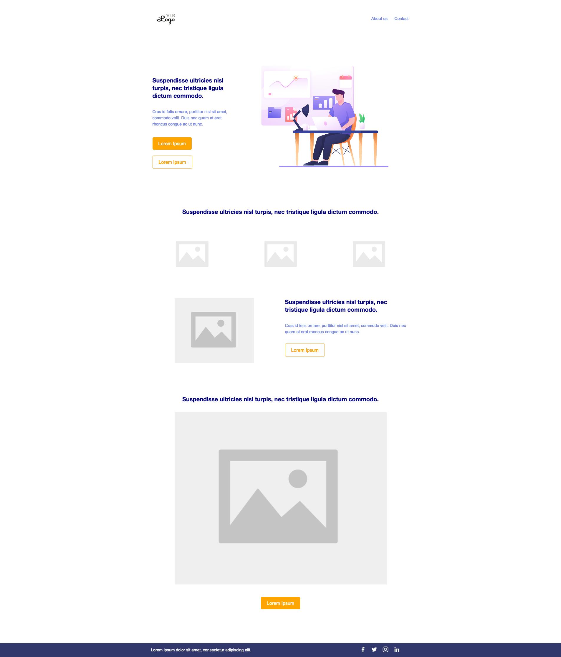 plantilla gratuita landing page