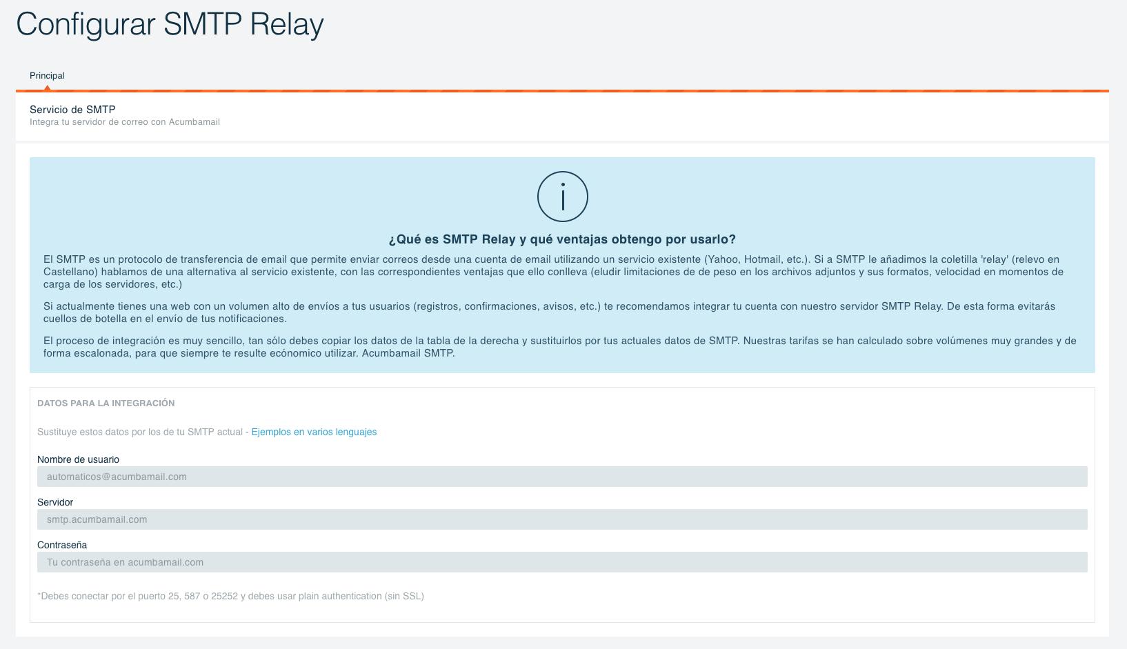configurar smtp relay