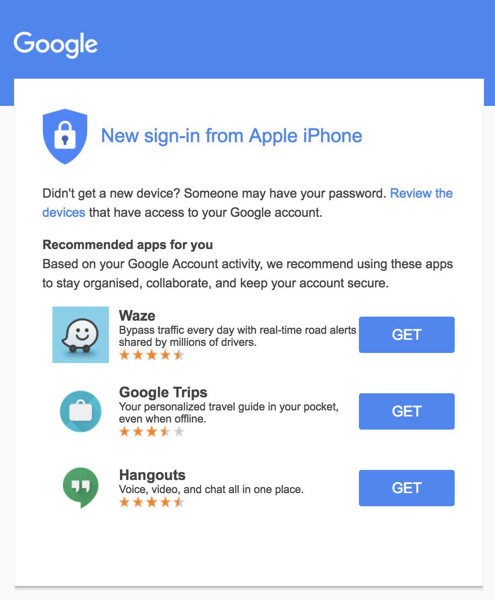 Email transaccional google