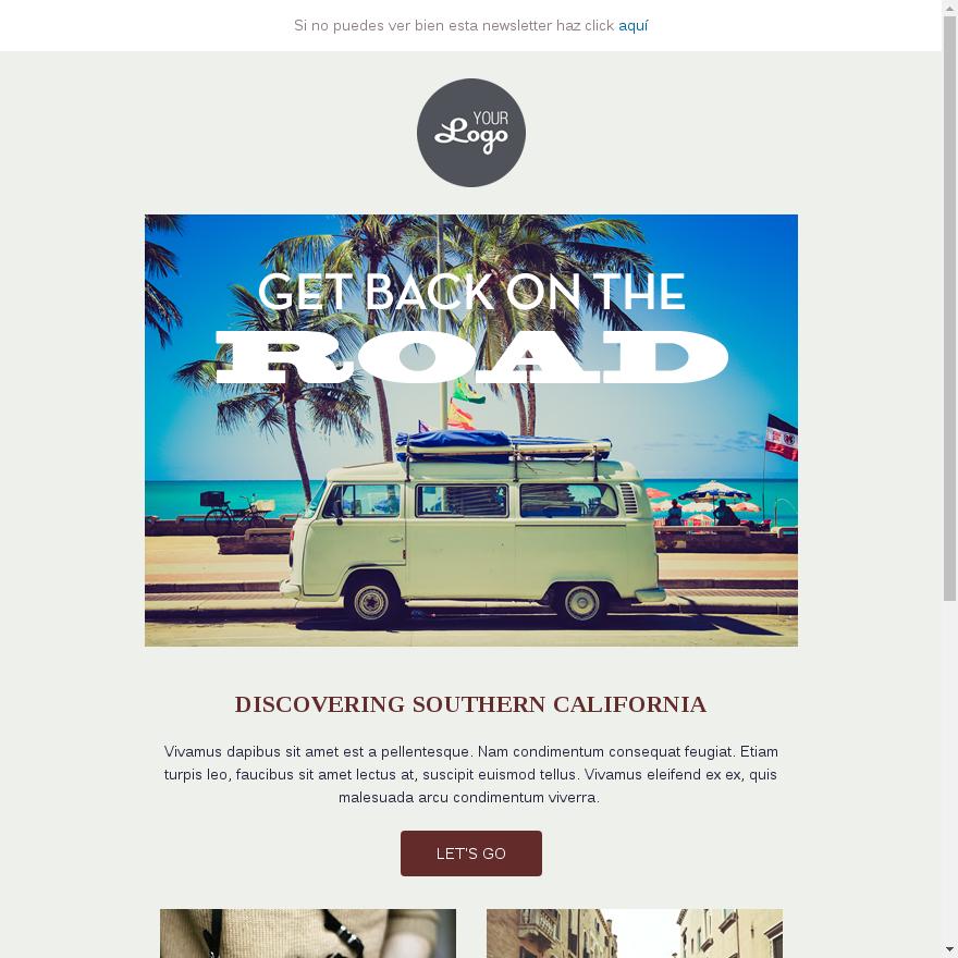plantilla email turismo y viaje