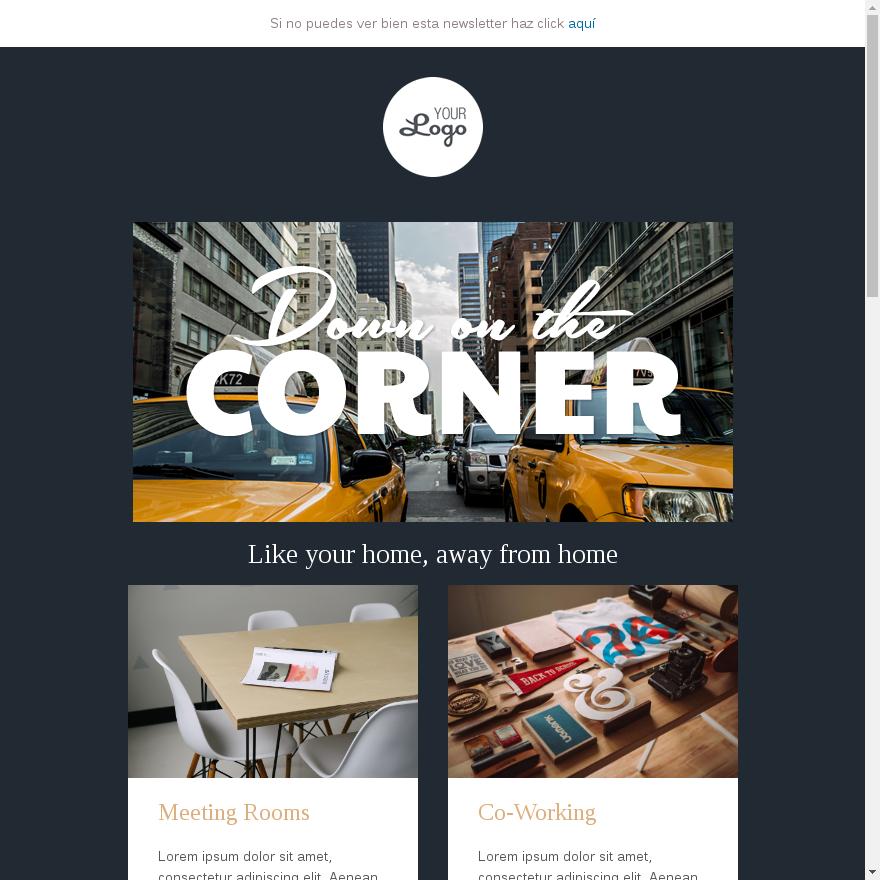 plantilla email turismo