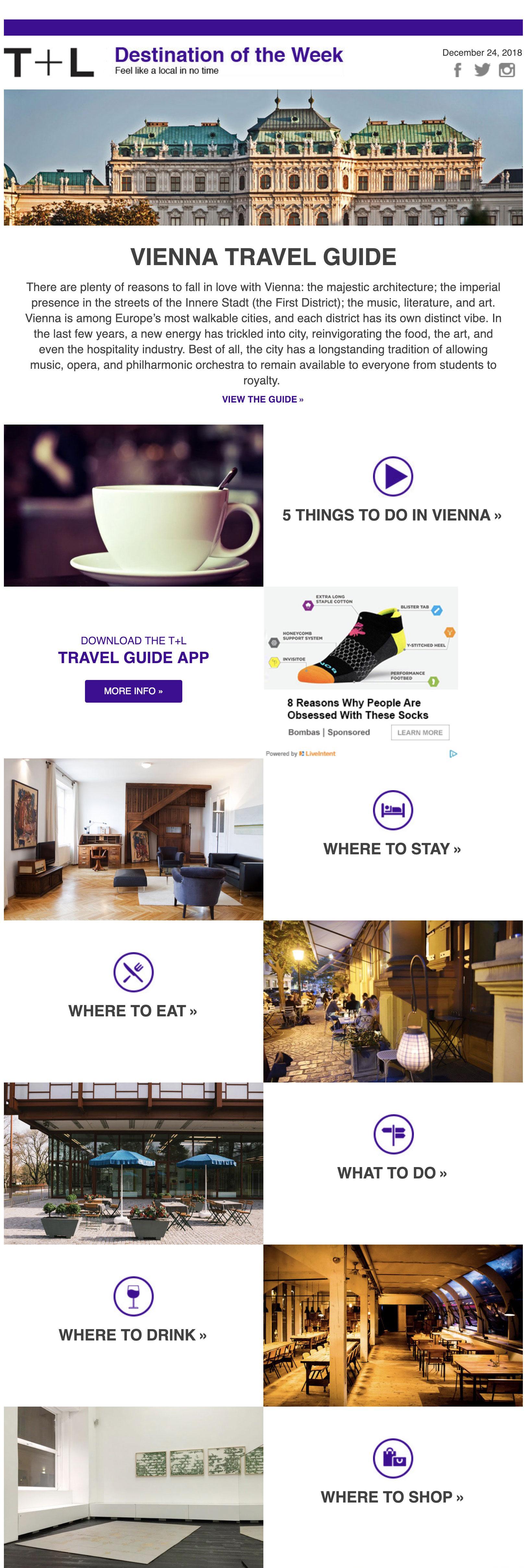 T & Lcampaña email sector turismo y viajes