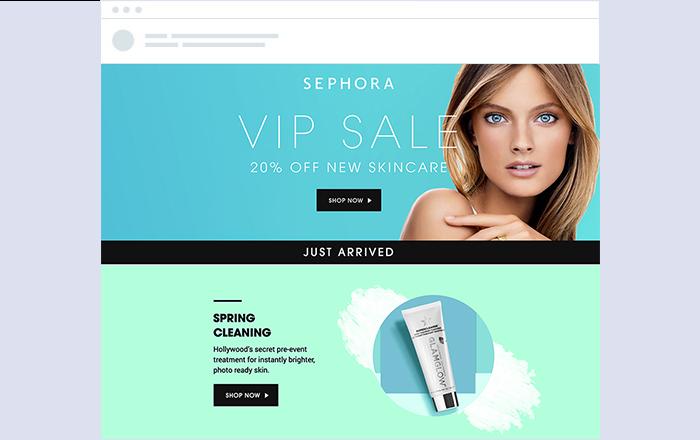 sephora campaña vip email