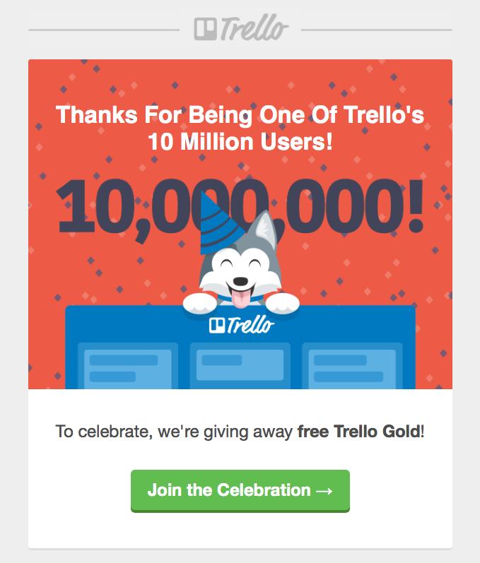 trello milestone email