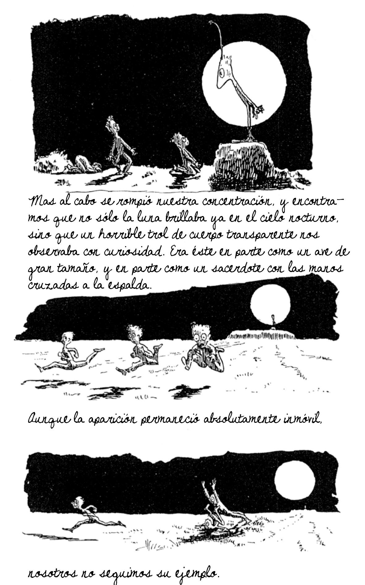 Página intermedia de la novela