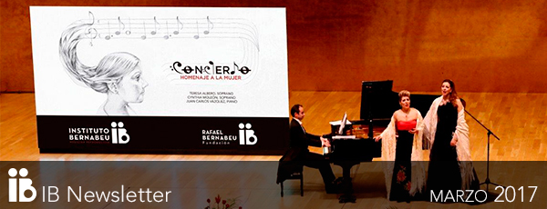 Auditorio ADDA completamente pieno durante il concerto in omaggio alla donna organizzato dall'Instituto Bernabeu