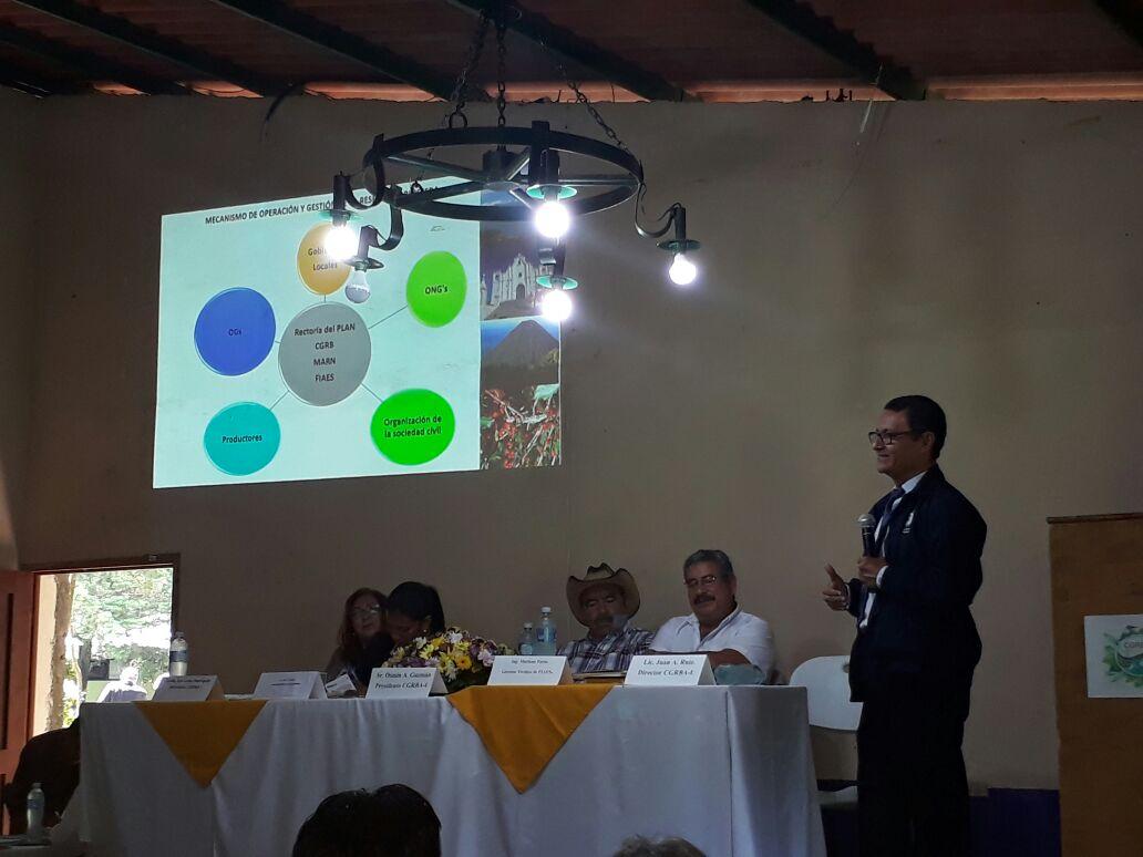 Presentación del Plan de Desarrollo Local Sostenible de la Reserva de Biosfera Apaneca-Ilamatepec